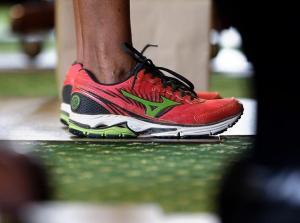Wendy Davis' Red Sneakers