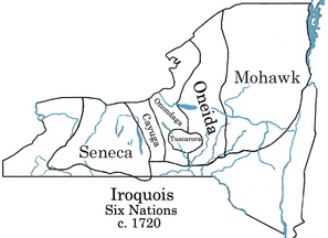 Iroquois Map of The 6 Nations