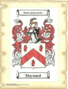 Maynard Family Crest