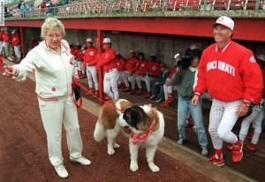 Cincinnati Reds Owner Marge Schott And Her Dog, Schottzie