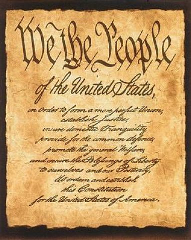 The Preamble To The United States' Constitution.