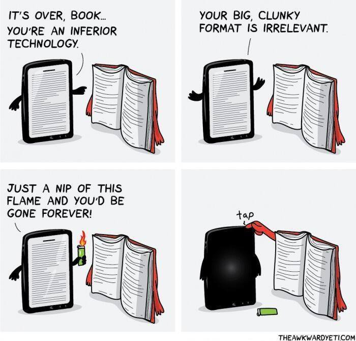 Paper Books Vs. Electronic Devices